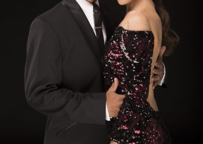 argentine tango dancers staring at the camera