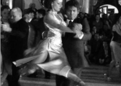 tango dancer flying through the air