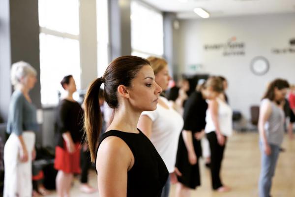 female tango dancer exploring posture