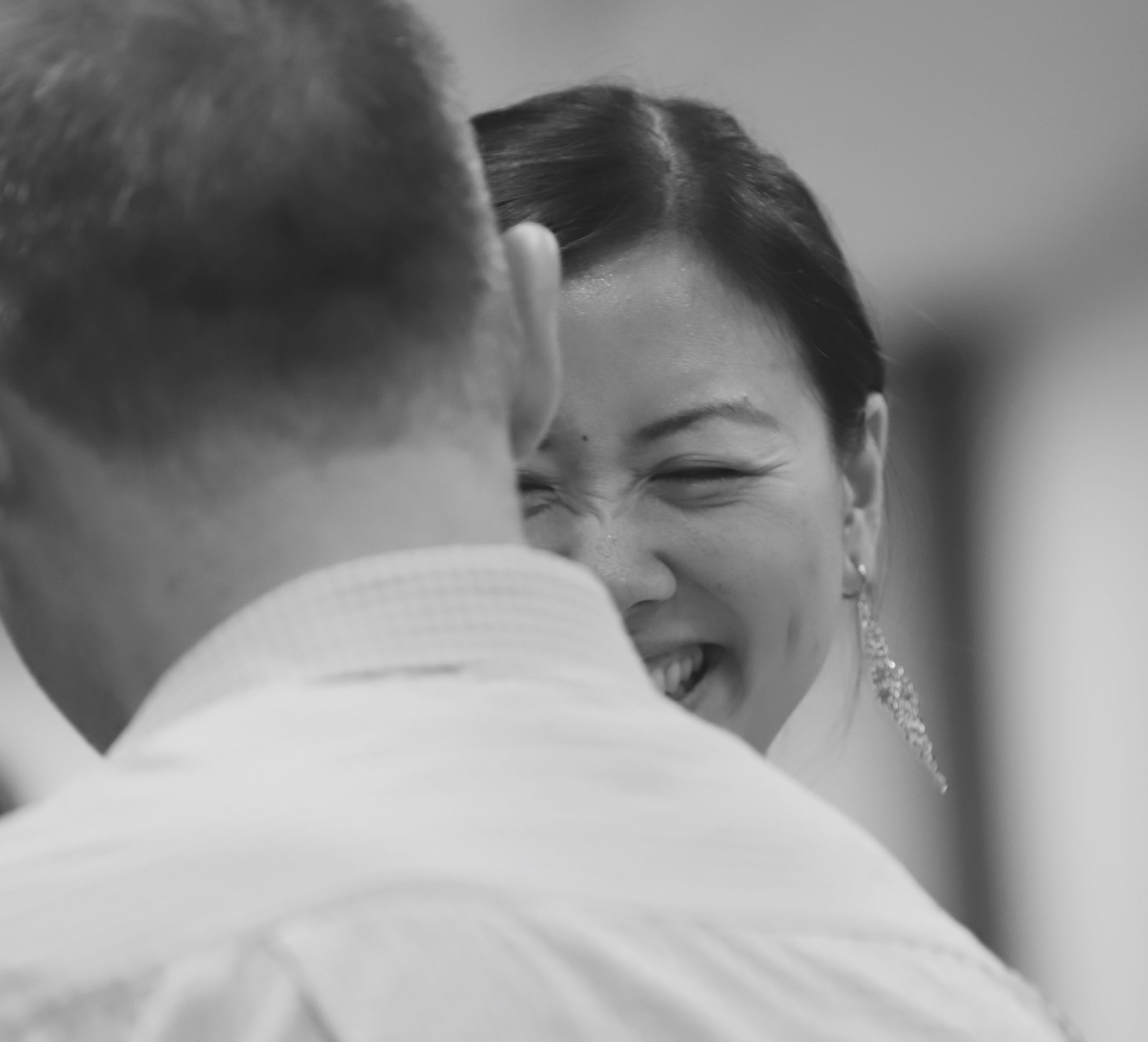 tango students laughing in class