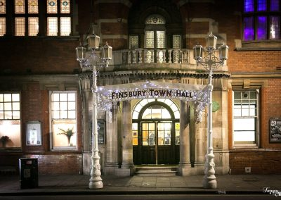 exterior of Finsbury Town Hall