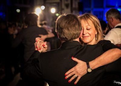 tango dancer embracing her partner