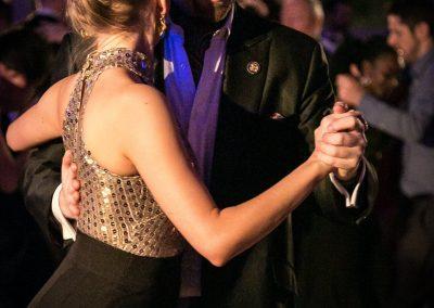 elegant tango couple at the Winter Ball