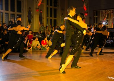 dancers lined up in tango show