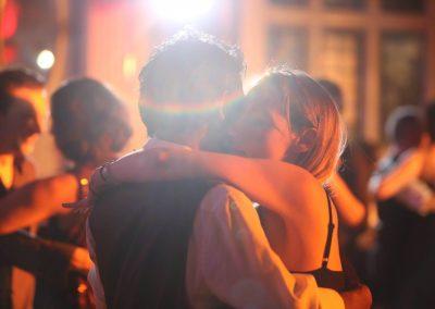 tango couple enjoying a close embrace