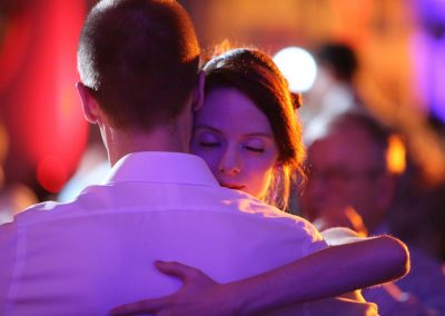 tango couple in an intense embrace