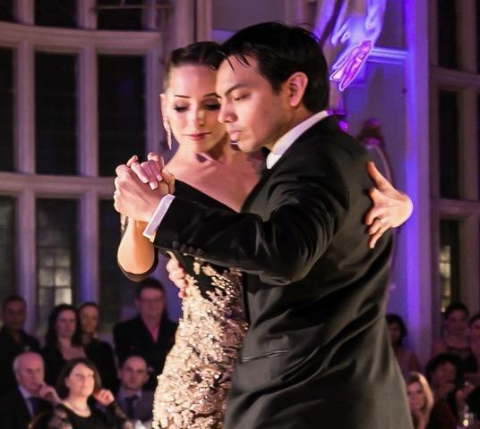 David & Kim performing at the Tango Ball