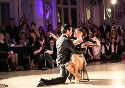 Kim and David performing on tango anniversary