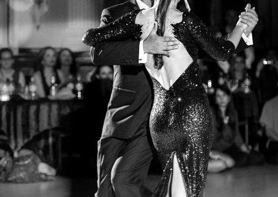 the back of a tango dress