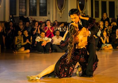 David & Kim in a final tango pose