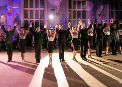 the end of a tango student show