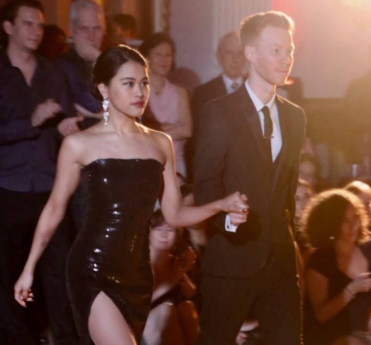 tango students entering the dance floor