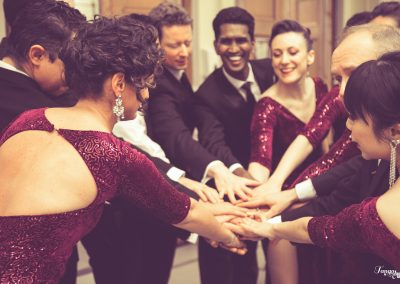 Tango students bonding before their show