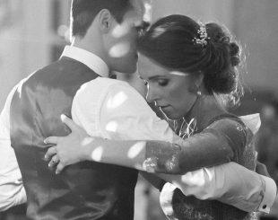 tango wedding dance in dappled light