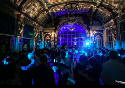 busy dance floor at the Tango Ball