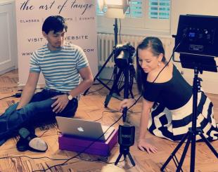 David & Kim teaching tango online