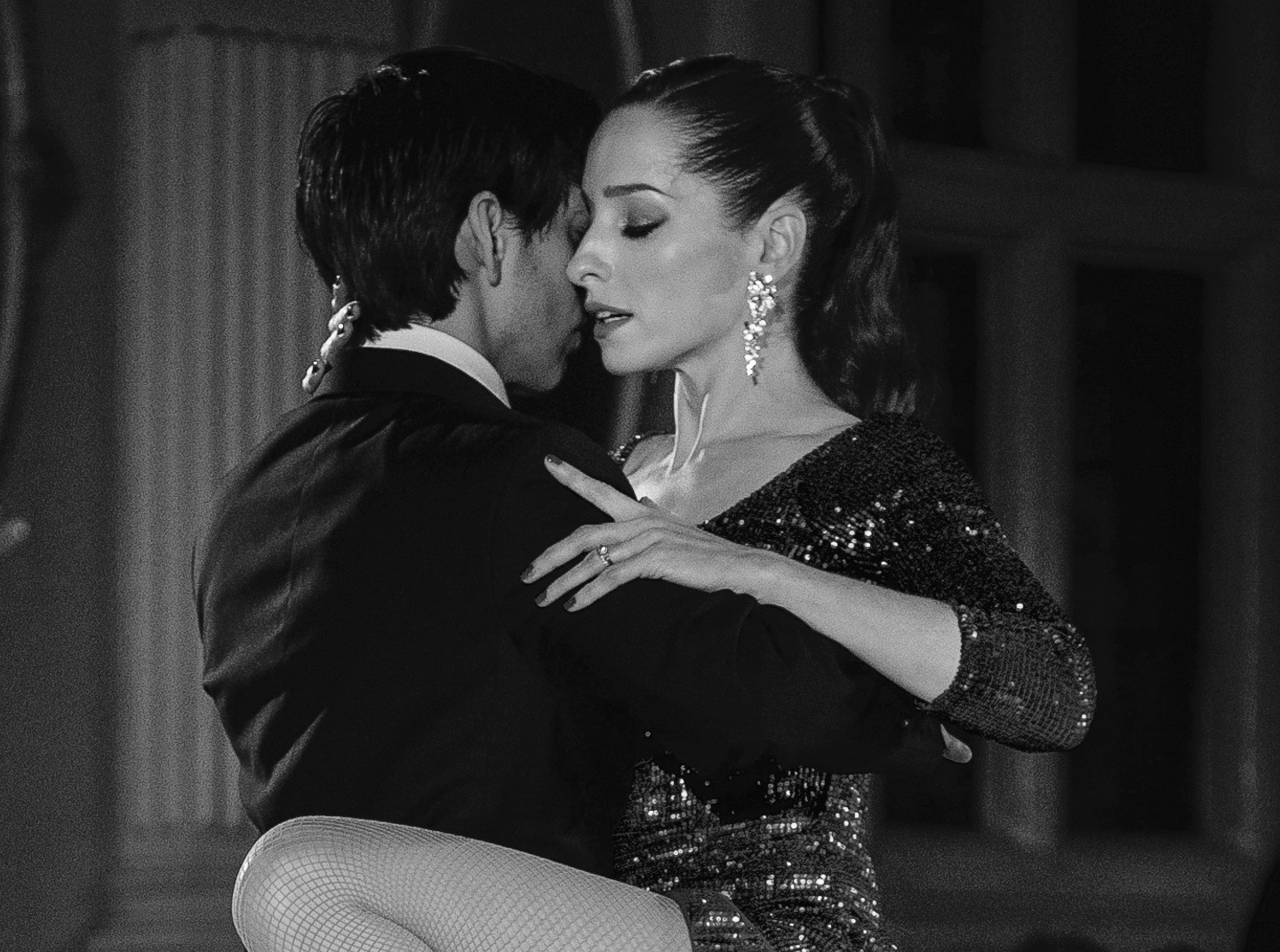 tango dancers in a pose at the end of a performance