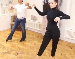 David & Kim teaching an online tango technique class