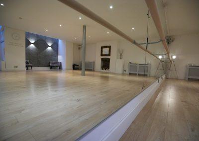 tango studio with ballet barre