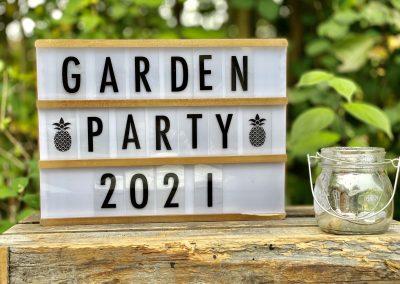 argentine tango garden party sign